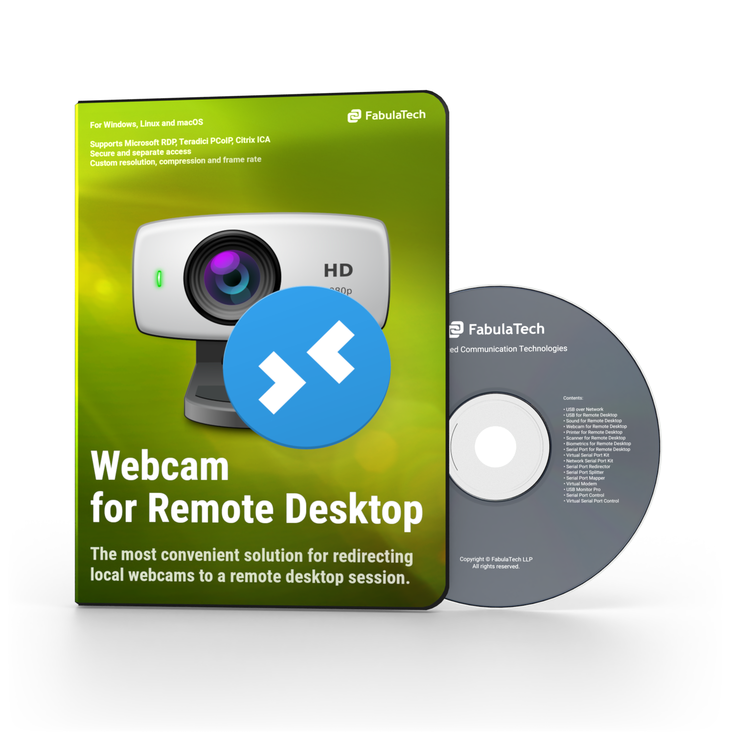Webcam for Remote Desktop Box and CD PNG 750x750
