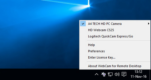 Connecting Webcam to Remote Session